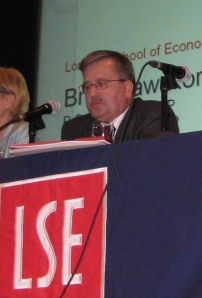 Komorowski at the London School of Economics - (c) by Philipp Köker