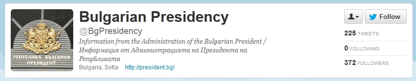 Bulgarian presidential office on twitter