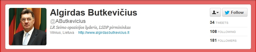 Algirdas Butkevicius on Twitter
