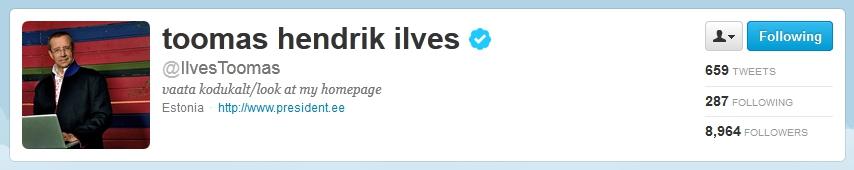 Toomas Hendrik Ilves - Twitter profile