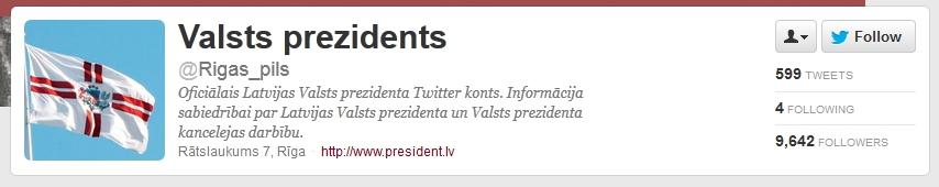 Latvian presidency on twitter