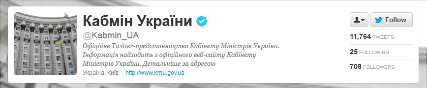 Ukrainian Cabinet of Ministers on Twitter