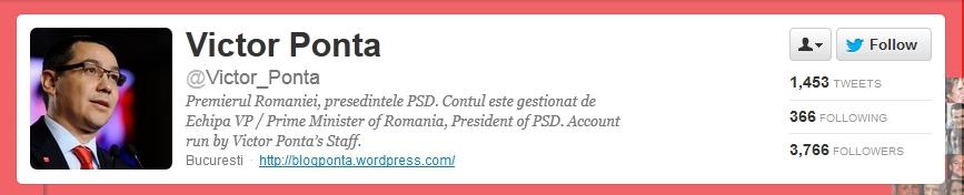Victor Ponta on twitter